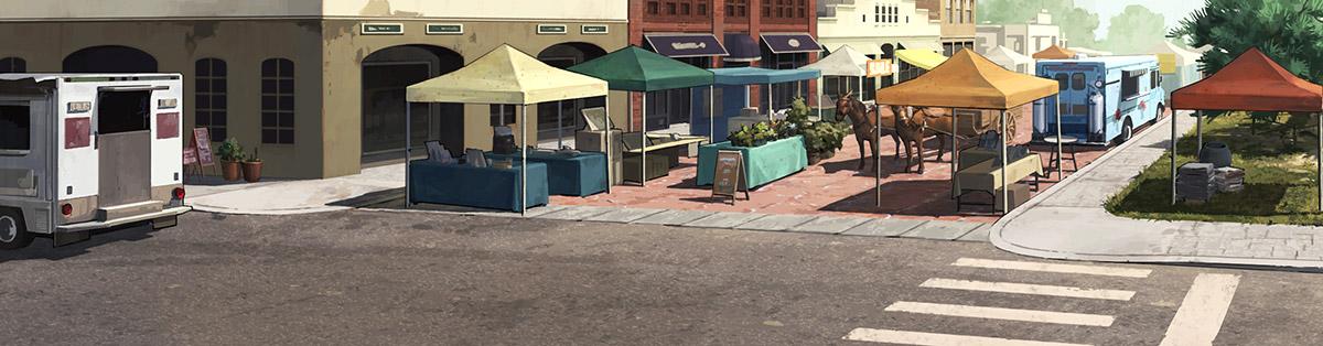 Commonwealth Street (street design based off of The Walking Dead comic)
