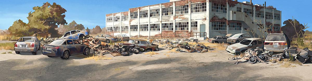 Factory Parking Lot